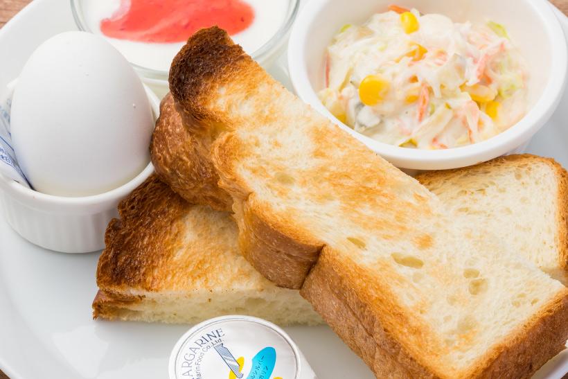 バタートースト&ゆで卵
