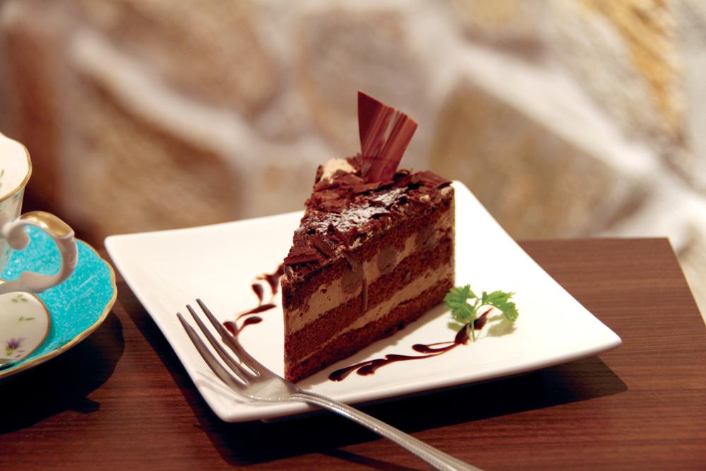 大阪堺市大美野の喫茶店「大山珈琲」ちょっと大人のチョコレートケーキ「ショコラ」